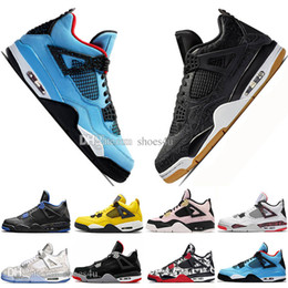 $enCountryForm.capitalKeyWord NZ - Cheap 2019 New Bred 4 4s What The Cactus Jack Laser Wings Mens Basketball Shoes Denim Blue Pale Citron Men Sport Designer Sneakers US 5.5-13