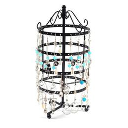 $enCountryForm.capitalKeyWord Australia - 144 Holes Metal Jewelry Rack Necklace Holder Organizer Rotary Display Stand Gift