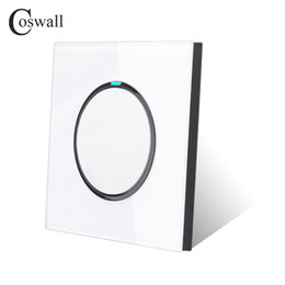 Switch off puSh online shopping - Coswall New Arrival Crystal Glass Panel Gang Way Random Click Push Button Wall Light Switch With LED Indicator