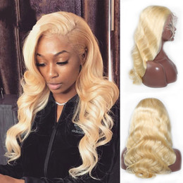 blonde body wave full lace UK - New Style Body Wave 613 Blonde Lace Front Wig Full Lace Human Hair Wig With Baby Hair For Black Women Free Shipping