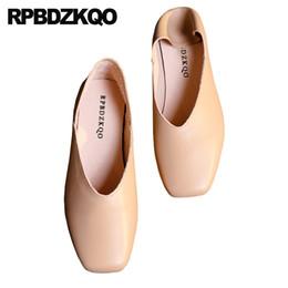 $enCountryForm.capitalKeyWord UK - 2019 Elderly Ballerina Ladies Slip On Slippers China Designer Shoes Square Toe Lightweight Sandals Soft Ballet Flats Women Mules