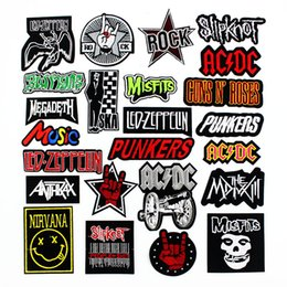 Band Clothes For Australia - Fashion Rock Music Band Patches Badges Punk Embroidered DIY Applique iron on for Clothes Jacket Jeans Decoration Label