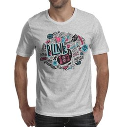 $enCountryForm.capitalKeyWord Australia - American Blink 182 band art design logo Printed Mens T-Shirts Casual Crewneck Short Sleeve T Shirt 7 Colors