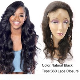raw hair sale NZ - A Best Sale Brazilian Peruvian Malaysian Indian Raw Remy Human Hair Extensions 360 Lace Frontal Closure Body Wave Hair Weaves frontals