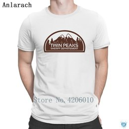 Wholesale twin peaks resale online - Twin Peaks Sheriff Department Tshirts Round Neck Interesting Gents Men s Tshirt Creative Humorous Summer Anlarach New Fashion