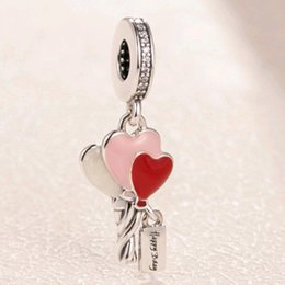 pandora baby Australia - HEART CHARM Jewelry SHOES Pandora Bracelet Baby Bottle 925-Silver Wholesale Original