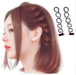 $enCountryForm.capitalKeyWord Australia - 2pcs set Flower Magic Hair Clip Braider Stylist Queue Twist Braid Hair Styling Styling clip hair clips