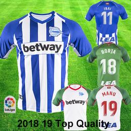 4661bca5f 2018 19 Deportivo Alaves Soccer Jersey IBAI BORJA MANU BURGUI alaves 18 19 Football  Shirt SOBRINO LAGUARDIA SOBRINO Top Quality Soccer Kit