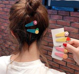 Vente en gros 2 Pcs Femmes Fille Mignon Épingles À Cheveux Fruit Fleur Forme Épingle À Cheveux Chapeau Clip Barrette Décor Cadeaux Acces