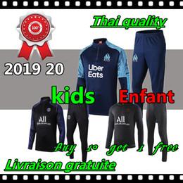 Children s suits boys online shopping - 2019 olympique de marseille kids soccer training suit MBAPPE enfant maillot de foot Football jacket jogging child tracksuit