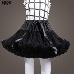 $enCountryForm.capitalKeyWord Australia - Women Formal Multi-layered Solid Bow Decoration Elastic Waist Loose Above Knee, Mini Petticoat Formal, Party