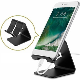alloy phone NZ - Mini Aluminum Alloy Mobile Phone Holders Universal Portable Charging Lazy Mounts Metal Stand for IPhone for Samsung for Huawei Smartphone