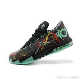 kevin durant shoes kd cheap NZ - Cheap Mens what the KD 6 vi low tops basketball shoes Aunt Pearl Pink BHM MVP Blue Gold Floral Kevin Durant KD6 sneakers boots kds for-56qw8