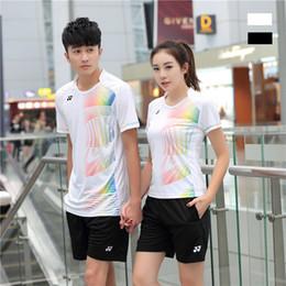 Sportswear T Shirt Badminton Australia - I6 YON EXX Badminton Suit Sportswear for Men and Women Short Sleeve T-shirt for Leisure Running Basketball casual wear Table tennis Y36163