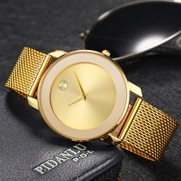 MISSFOX 40MM Women Watches Minimalist Ultra Thin Steel Mesh Watch Fashion Casual Waterproof 18K Gold Ladies Quartz-Watch Girls