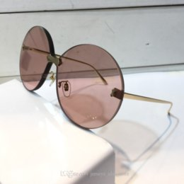 eye sunglasses for summer UK - 0353 Design Sunglasses For Women Fashion Sunglasses Wrap Sunglass Frameless Coating Mirror Lens Carbon Fiber Legs Summer Style