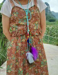 $enCountryForm.capitalKeyWord Australia - New Fashion cheap accessories hair band indian peacock feather pndent headbarope knitted belt Fashion hairband
