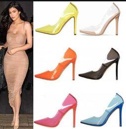$enCountryForm.capitalKeyWord Australia - Summer Clear PVC High Heels Pointed Toe Perspex Stilettos Slip on Transparent Pumps Womens Party Shoes