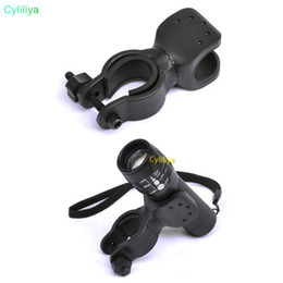 Bicycle Torch Clamp Australia - 360 Degree Bicycle LED Flashlight Mount Holder For Bicycle Torch Clip Clamp Bike phone Accessories
