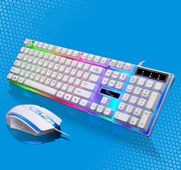 wired usb mouse NZ - G21 Keyboard Wired USB Gaming Mouse Flexible Polychromatic LED Lights Computer Mechanical Feel Backlit Keyboard NEW