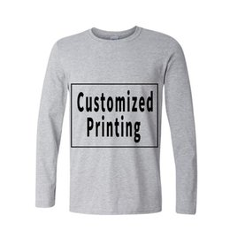 $enCountryForm.capitalKeyWord UK - Long Sleeve Cotton Private Male T Shirts Personality Photo Picture Logo Printed Custom Printing Tee Shirts Free Shipping