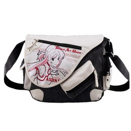 Sao coSplay online shopping - Sword Art Online SAO Kirigaya Asuna Canvas Messenger Bag Satchels Shoulder Bag Sling Pack Cosplay