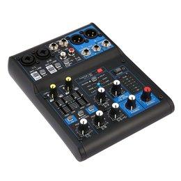 Опт 4-канальный Power Audio DJ Mixer Us Plug Professional Power Mixing USB-слот 16DSP +48V Phantom для микрофонов