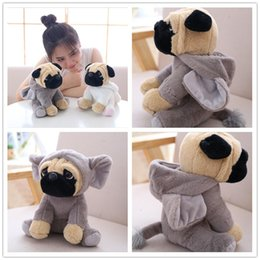 Tv Turns online shopping - 2019 NEW The SharPei Turned Dog Doll Plush Toy Hat Dog Doll Simulation Belldog Pug Stuffed Animals Toys for Children Gift CM