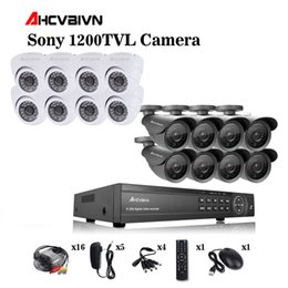 $enCountryForm.capitalKeyWord Australia - Home CCTV Security 16CH DVR Camera Video system 16pcs Sony 1200TVL Outdoor Weatherproof 3.6mm camera surveillance Kit 16 channel