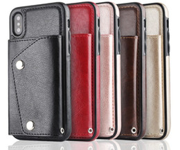 $enCountryForm.capitalKeyWord NZ - Wallet ID Card Slot Leather For Iphone XR XS MAX X 8 7 6 Galaxy Note 9 S9 S8 Note 8 Soft TPU Silicone Cash Cases Magnetic Cover+Strap Deluxe