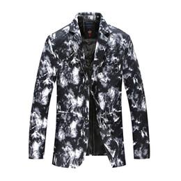 $enCountryForm.capitalKeyWord UK - Casual Printed Blazer Men Slim Fit Floral Mens Blazers Plus Size Party Blazer Homme Motifs Korean Men Fashion Suit Jackets 6X004
