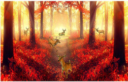 $enCountryForm.capitalKeyWord Australia - Red forest television background wall painting mural 3d wallpaper 3d wall papers for tv backdrop