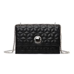 Quilted Handbags Chains NZ - Fashion Shoulder Bags For Women Female Party Crossbody Bag Plaid Chain Handbag Quilted Main Pu Leather Handbags For Femme