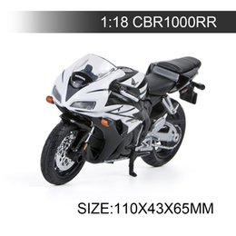 Motor Bicycles Australia - 1:18 Motorcycle Models CBR1000RR Model bike Alloy Motorcycle Model Motor Bike Miniature Race Toy For Gift Collection