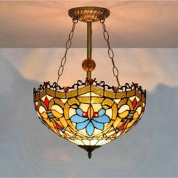 la chains NZ - Gorgeous Chandelier Lighting Ups Express Delivery Mediterranean Yellow Glass Lamp Modern Ceiling Lights High Quality Iron Chain Lava La