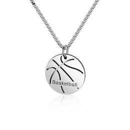 new pendant designs men Australia - Men Basketball Pendant Necklace Fashion Jewelry Stainless Steel Chain Mens Sport Hip Hop Jewelry New Design Punk Charm Necklace For Men Gift