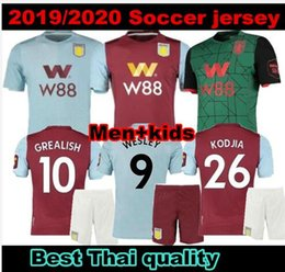 soccer aston villa UK - TOP 19 20 New Aston Villa soccer jersey Villa football shirt CHESTER WESLEY GREALISH HOGAN KODJA Men jerseys uniform equipment maillots