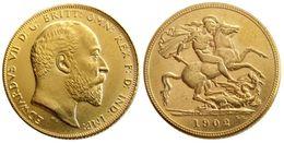 More Coins Australia - UK Rare 1902 British coin King Edward VII 1 Sovereign Matt 24-K Gold Plated Copy Coins Free Shipping