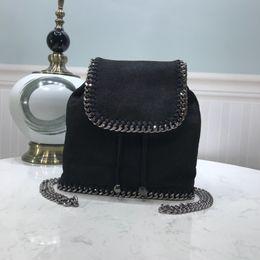 $enCountryForm.capitalKeyWord NZ - New brand High Quality Fashion casual chain backpack retro color chain shoulder bag drawstring bucket bag leather backpack Unisex