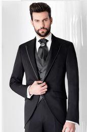 $enCountryForm.capitalKeyWord Australia - 2019 Latest Coat Pant Designs Men Suits Jacket Prom Tuxedo Slim Fit 3 Piece Groom Style Suits Custom Blazer Masuclino