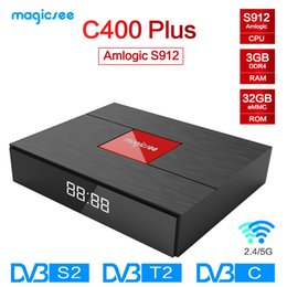 $enCountryForm.capitalKeyWord Australia - Magicsee C400 Plus Amlogic S912 Octa Core TV Box 3+32GB Android 4K Smart TV Box DVB-S2 DVB-T2 Cable Dual WiFi Smart Media Player