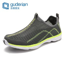 daa243a880a2 GUDERIAN Lightweight Outdoor Sneakers Men Summer Breathable Water Shoes For  Men Soft Hiking Casual Shoes Chaussure Ete Homme