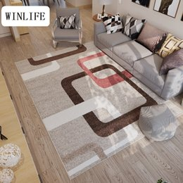 Living room fLoor mats fLoraL online shopping - WINLIFE North European Carpets Floral Plaid Rugs For Living Room Bedroom Hotel Machine Washable Area Rugs Room Floor Mats