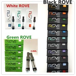 Pack coils online shopping - ROVE Cartridges ml ROVE Carts Green Glass Tank Empty Ceramic Coil for Thick Oil Thread Empty Vape Carts Flavors Gift Packing Box