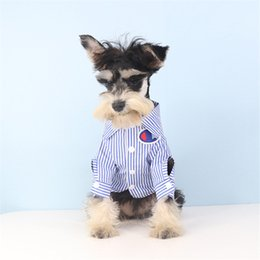 $enCountryForm.capitalKeyWord Australia - INS Style Shirt for Pet Dog Fashion Brand Dog Tees with Logo Cute Teddy Bulldog Schnauzer Clothes