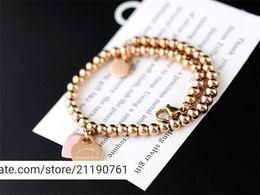 $enCountryForm.capitalKeyWord Australia - liruoxi1314 High Silverware beads bracelet Women Heart-shaped metal Chain Bracelets Jewelry dust bag
