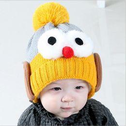 Fiber Garden Australia - 2018 Brand Beanies Hat 6 Months 4 Years Old Kids Warm Winter Cap Cartoon Lovely Big Eyes Bonnet Hat Baby Cotton Knitted Hat Skullies
