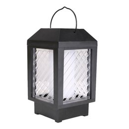 solar umbrellas UK - Flame Solar Lantern Hanging Dancing Flame Solar Garden Light for Outdoor Patio Umbrella Tree Pool Lawn Porch
