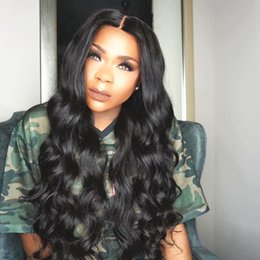 burmese hair Australia - Beauty Water wave Brazilian Hair Straight Human Hair Wigs with Baby Hair pre plucked Lace Front Wigs For Black Women can be permed