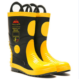 $enCountryForm.capitalKeyWord NZ - Fire fighting boots shoes with steel toe cap fireman protected wearing rubber flame retardant safety products Fireman Boots prevent Rubber